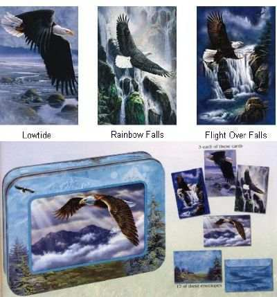 Tree-Free Collectible Note Card Tin Soaring High