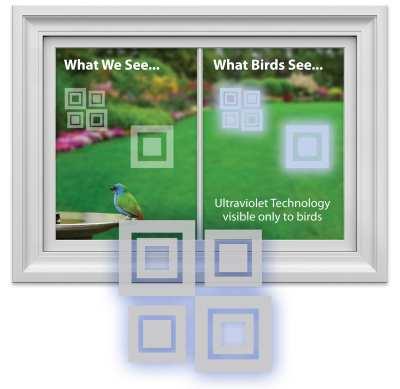 WindowAlert Bird Anti-Collision Decals Modern Square