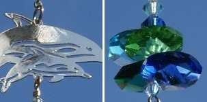 Crystal Fantasy Suncatcher Dolphins